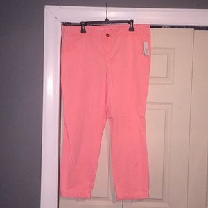 Neon Pink Cuffed Cords Size 16
